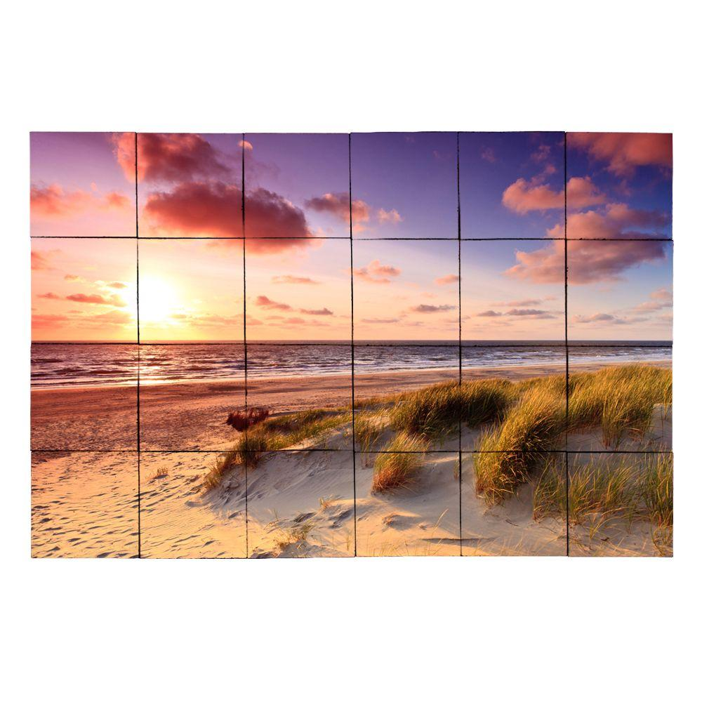 Tile My Style Beach1 36 in. x 24 in. Tumbled Marble Tiles (6 sq. ft. /case)