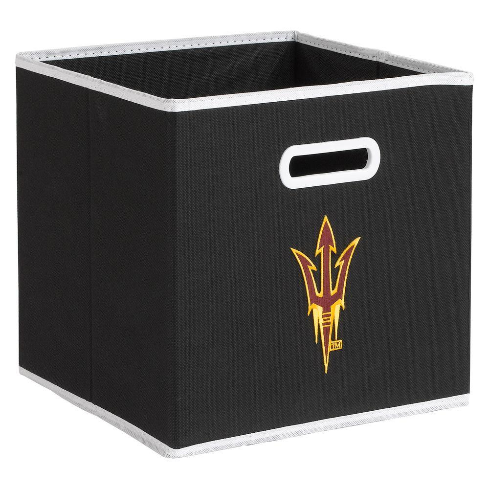 null College STOREITS Arizona State University 10-1/2 in. W x 10-1/2 in. H x 11 in. D Black Fabric Storage Drawer