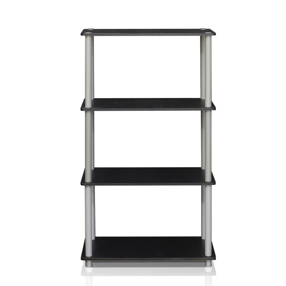 Turn-N-Tube Black Open Bookcase