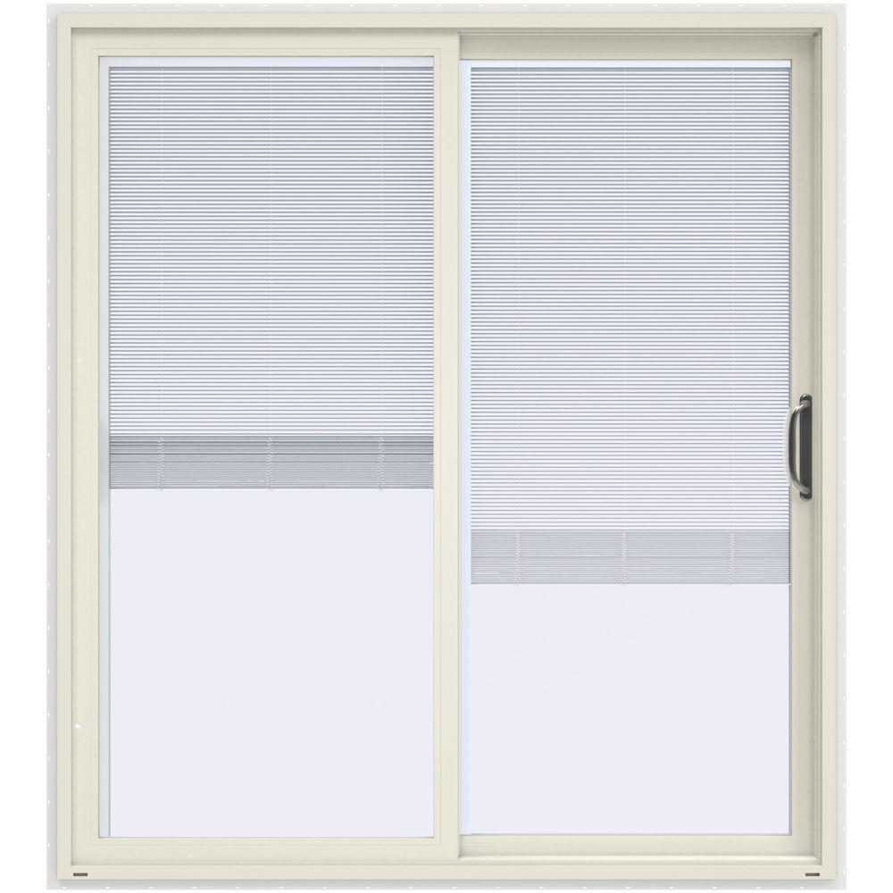 Patio Doors Product: JELD-WEN 72 In. X 80 In. V-4500 White Prehung Right Hand