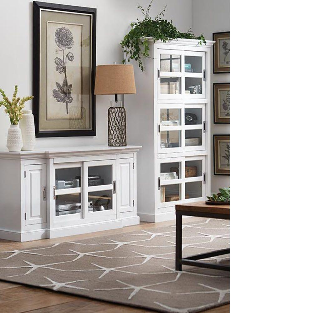 Home decorators collection lexington white glass door for Home decorators bookcase