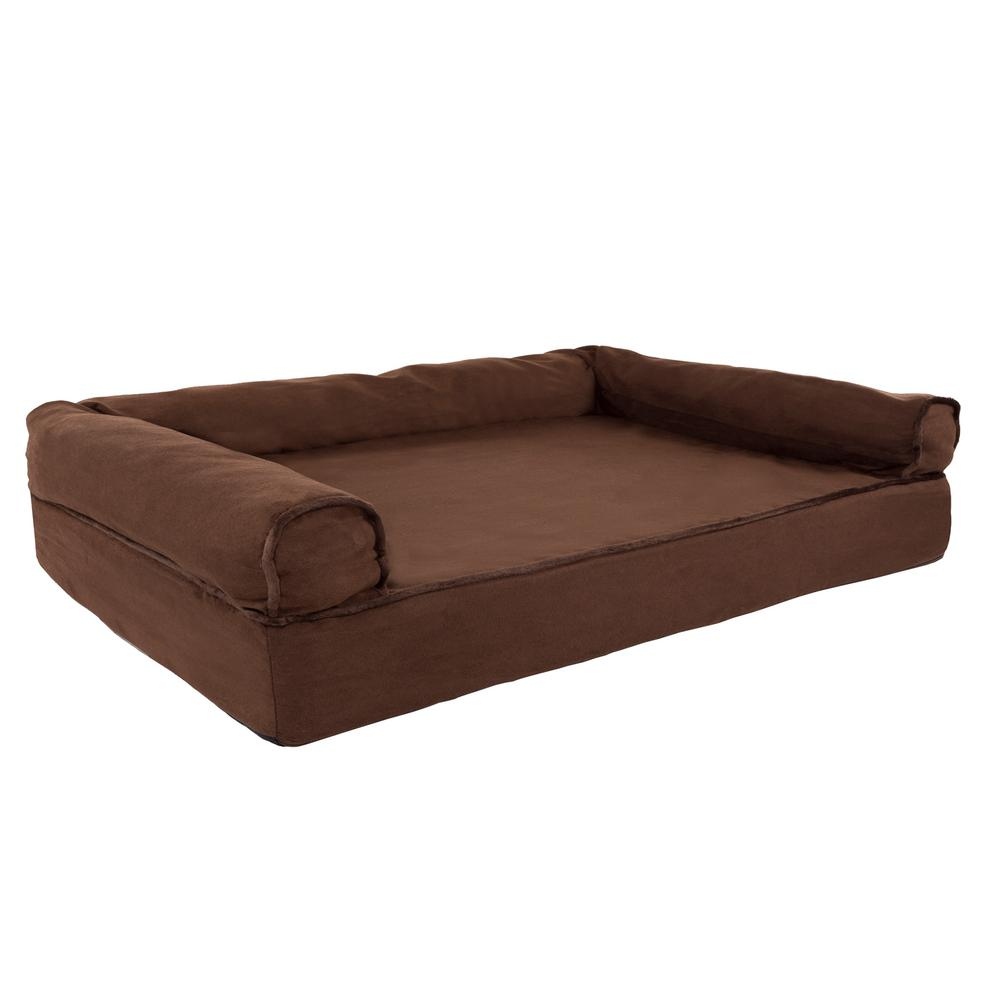 Petmaker Medium Brown Memory Foam Orthopedic Pet Bed