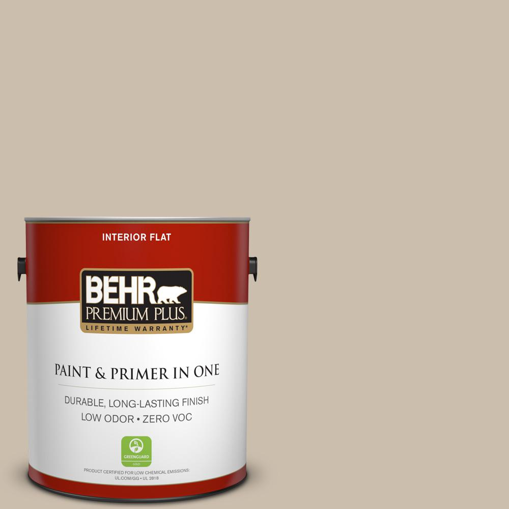 BEHR Premium Plus Home Decorators Collection 1-gal. #HDC-AC-10 Bungalow Beige Zero VOC Flat Interior Paint