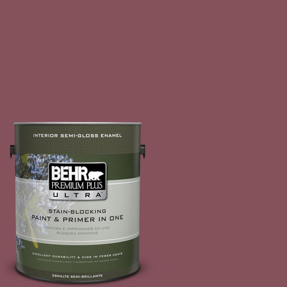 1 gal. #PPU1-15 So Merlot Semi-Gloss Enamel Interior Paint and Primer