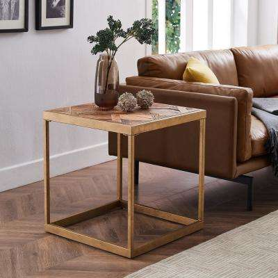 Silva Natural Reclaimed Wood Patchwork End Table