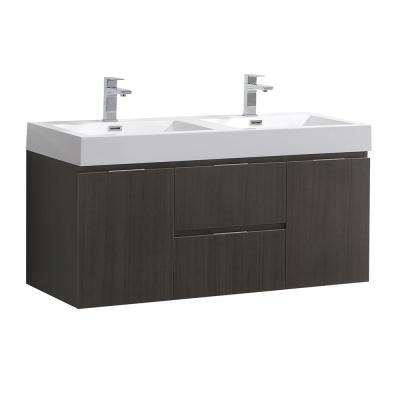 Valencia 48 in. W Wall Hung Bathroom Vanity ...
