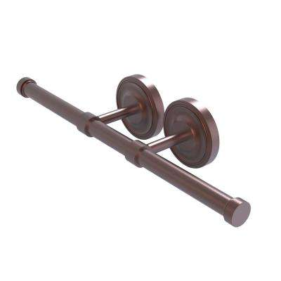 Prestige Regal Collection Double Post 2-Roll Toilet Paper Holder in Antique Copper