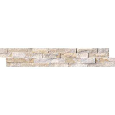 Arctic Golden Split Face Ledger Panel 6 in. x 24 in. Marble Wall Tile (10 cases / 60 sq. ft. / pallet)