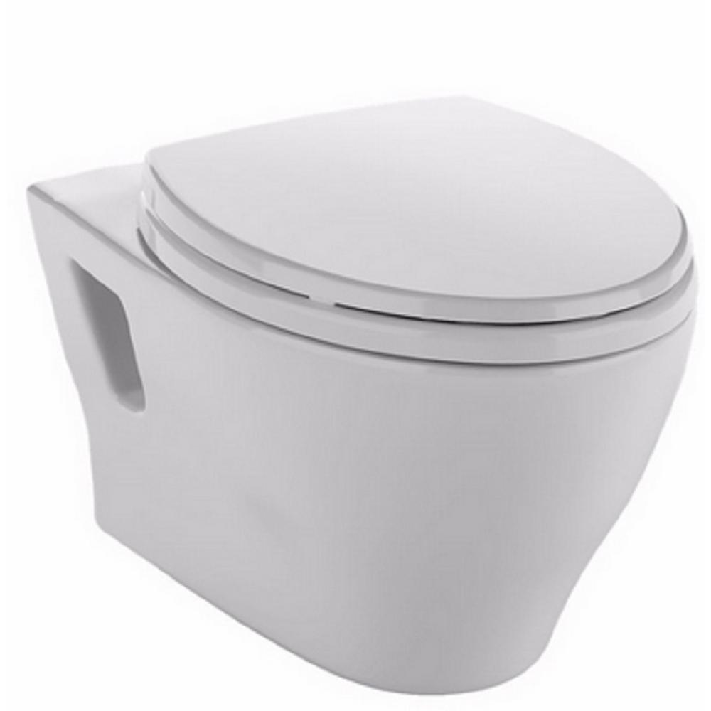 Aquia Wall Hung Elongated Toilet Bowl Only with CeFiONtect in Cotton