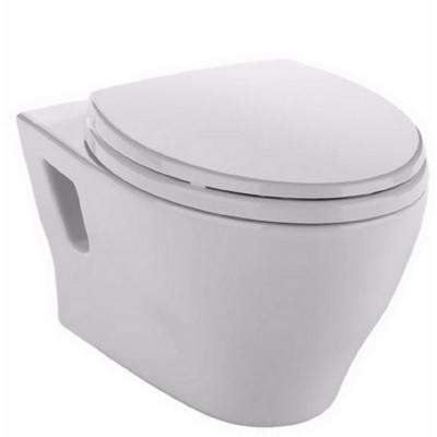 Aquia Wall Hung Elongated Toilet Bowl Only with CeFiONtect in Cotton White