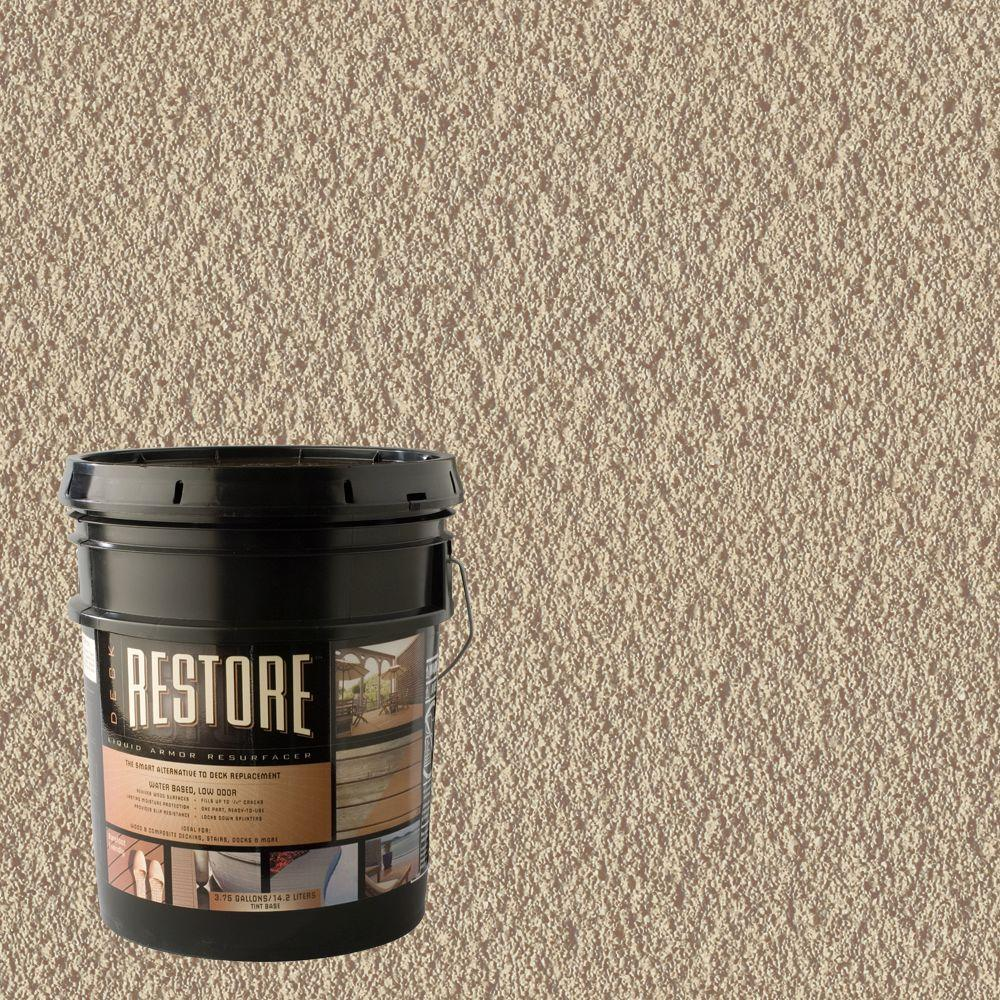 Restore Deck Liquid Armor Resurfacer 4 Gal. Water Based Beach Exterior Coating-DISCONTINUED