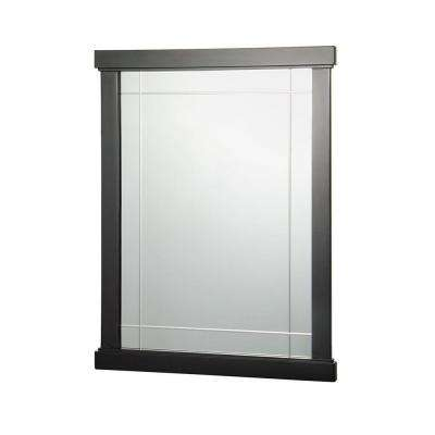 Zen 31 in. L x 24 in. W Wall Mirror in Espresso