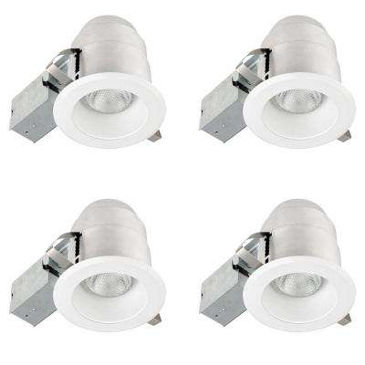 5 in. White IC Rated Round Recessed Lighting Kit (4-Pack)