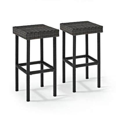 Palm Harbor Wicker Outdoor Bar Stool (2-Pack)