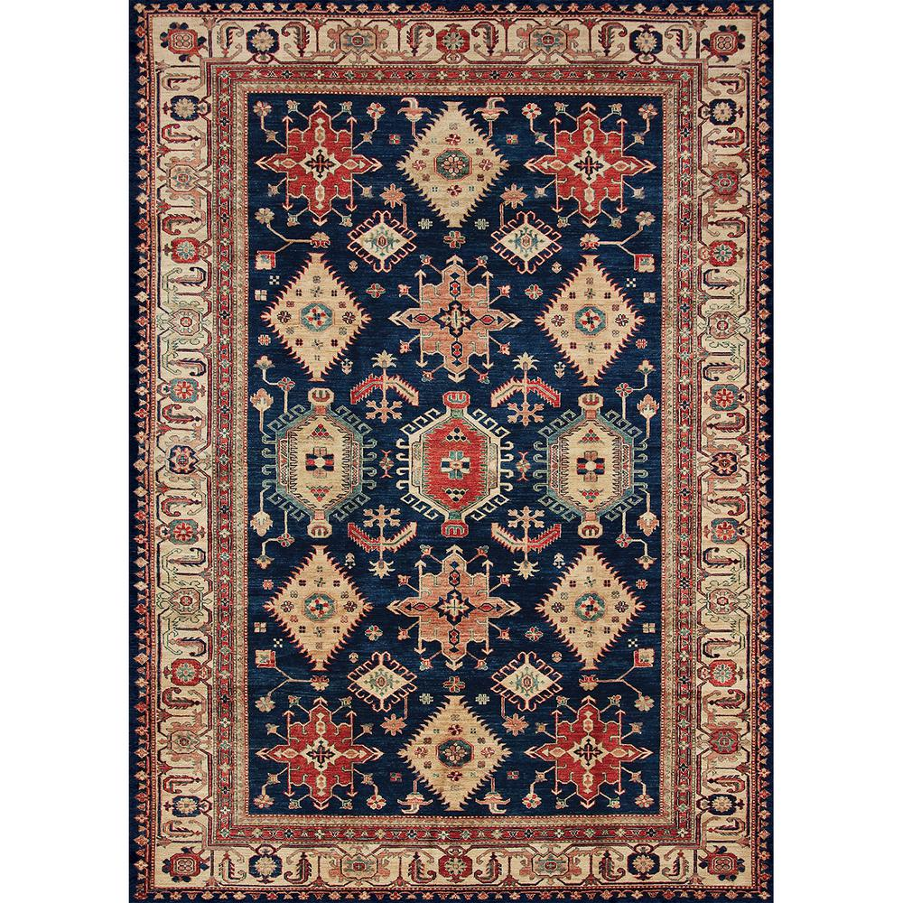 Throw Rugs Secure: Ruggable Washable Noor Sapphire 5 Ft. X 7 Ft. Stain