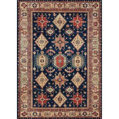 Washable Noor Sapphire 5 ft. x 7 ft. Stain Resistant Area Rug