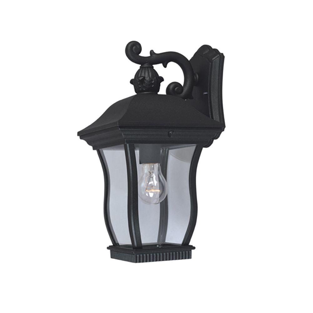 Cumberland Collection Black Outdoor Wall-Mount Lantern
