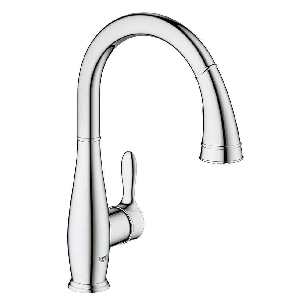 Parkfield Single-Handle Pull-Down Sprayer Kitchen Faucet with Dual Spray in