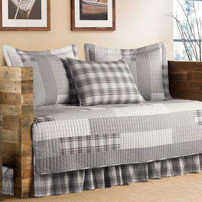 Fairview 5-Piece Grey Twin Reversible Daybed Bedding Set