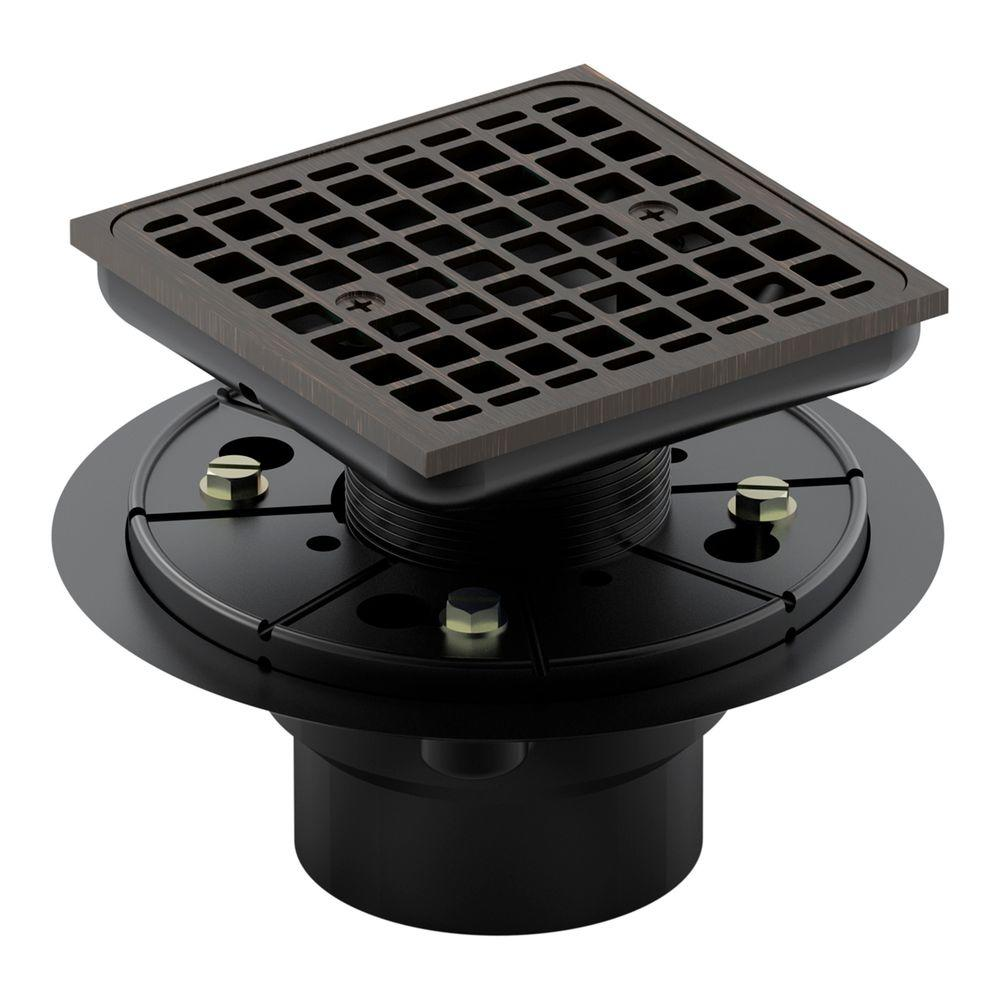 KOHLER Square Design Tile In Shower Drain In Oil Rubbed Bronze