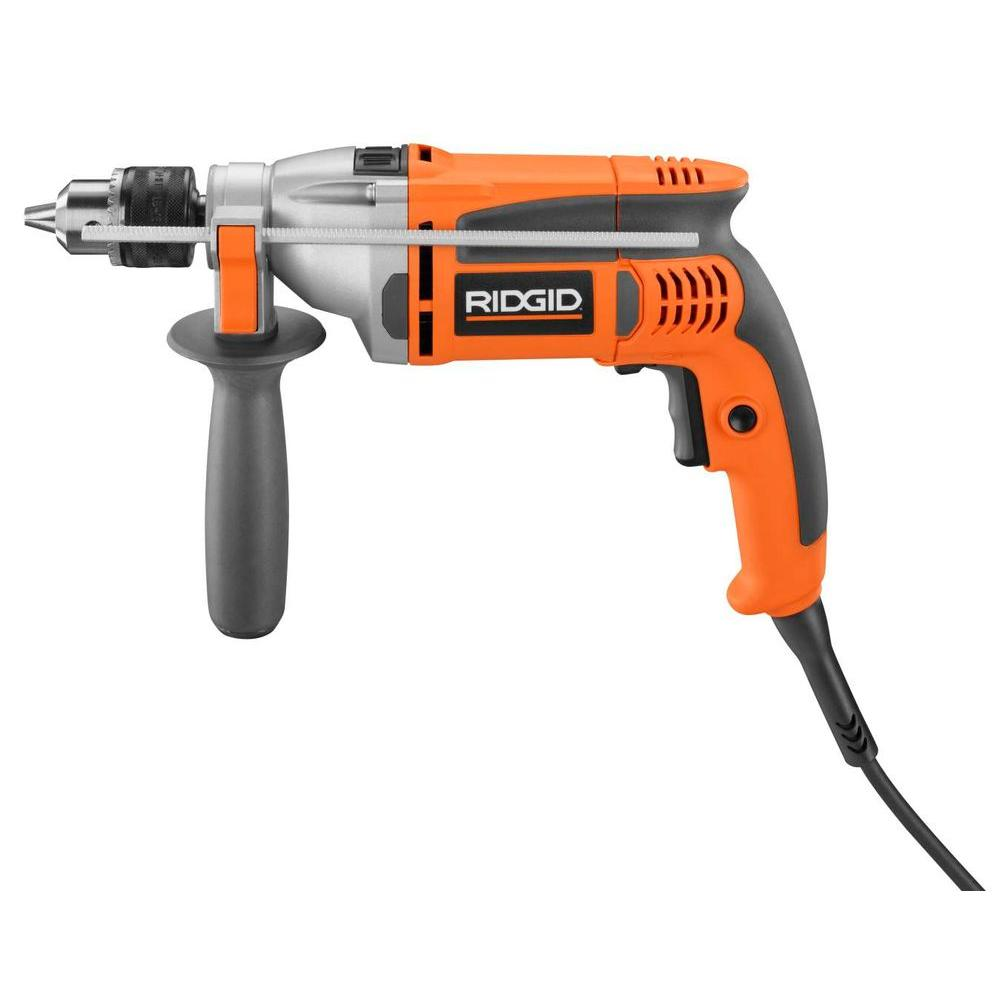 Ridgid 7.5 Amp Heavy-Duty 1/2 in. Corded Variable Speed Reversible Hammer Drill