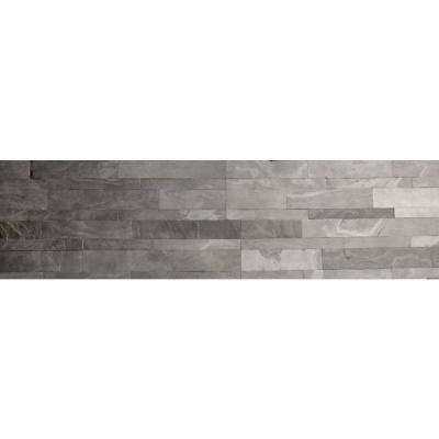 Desert Black Ultra Thin 6 in. x 24 in. Natural Stone Panel Siding (10-Pack)