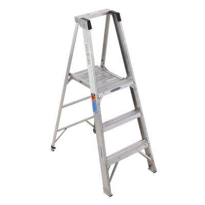 3 ft. Aluminum Platform Step Ladder with 300 lb. Load Capacity Type IA