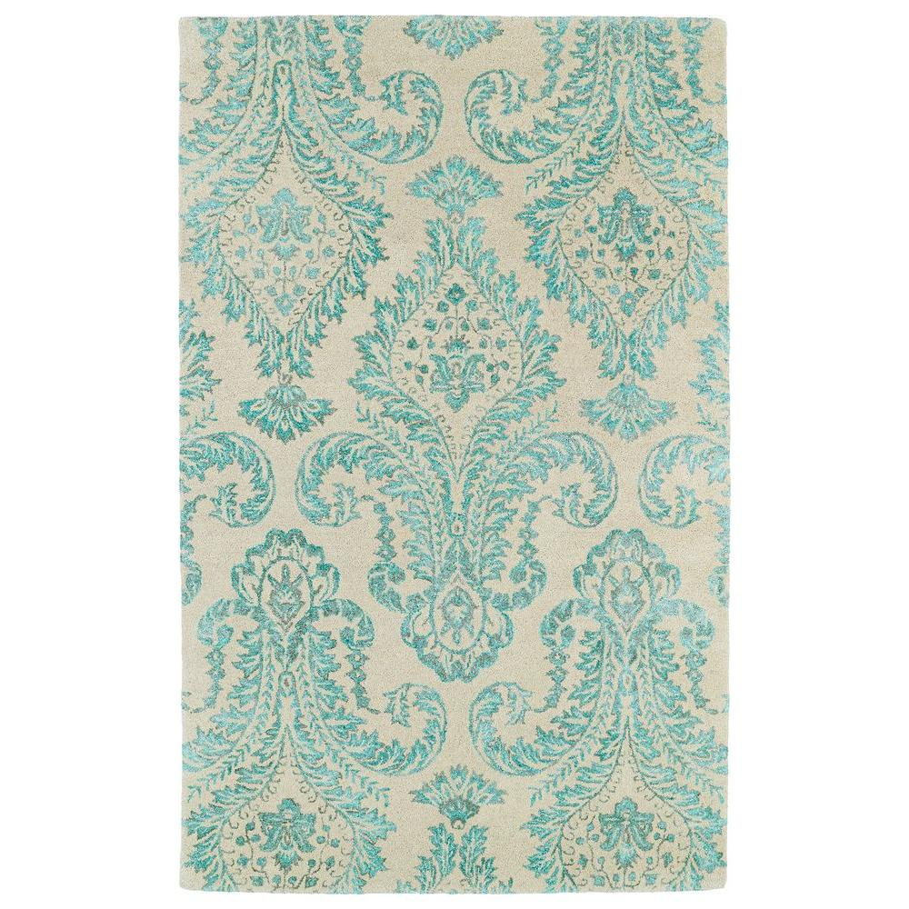 Kaleen Divine Turquoise 5 ft. x 7 ft. 9 in. Area Rug