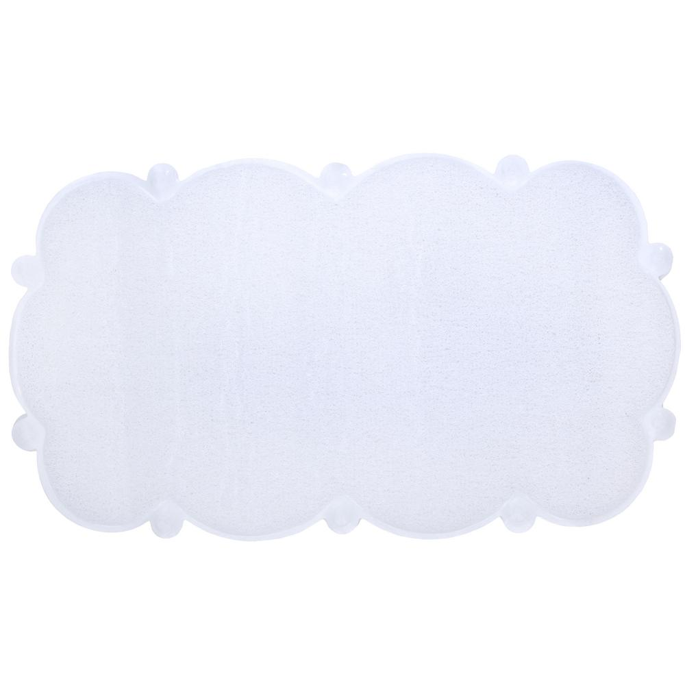17 in. x 29 in. Cloud Bath Mat in White