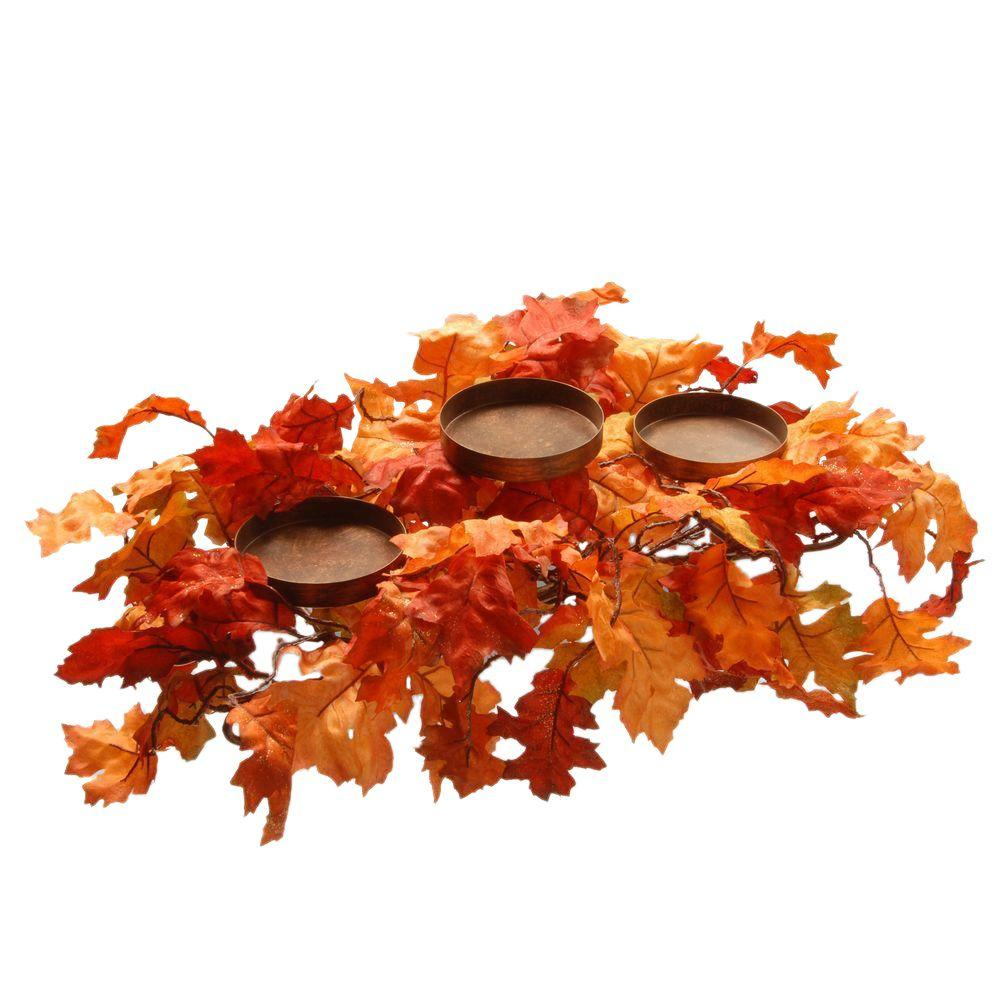 Harvest Accessories 22 in. Candle Holder with Maples