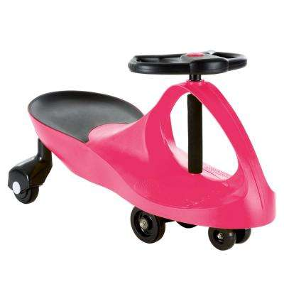 Hot Pink Zig Zag Wiggle Ride On Car No Batteries