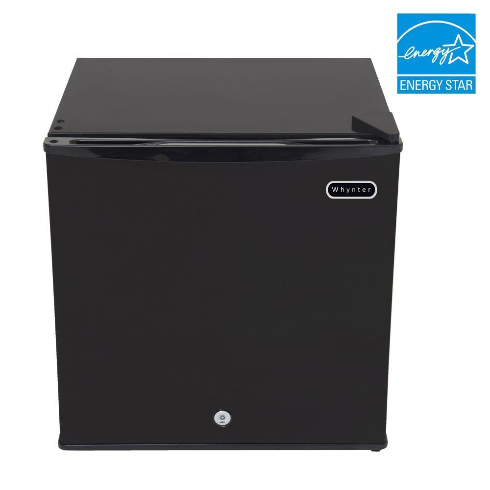 Whynter 1.1 cu. ft. Portable Freezer in Black with Lock
