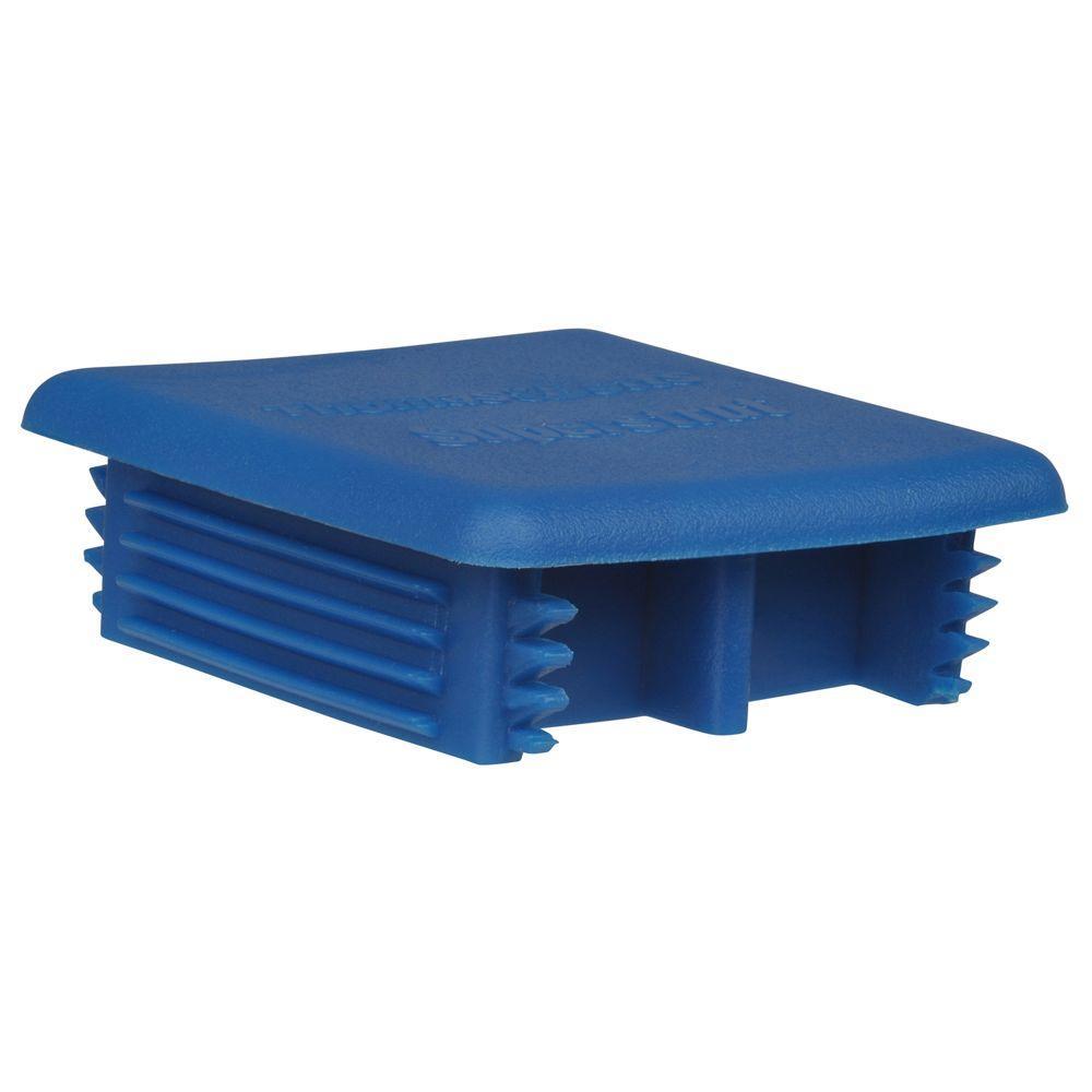 12-Gauge Blue Strut End Cap for A Series Channel (2-Pack)