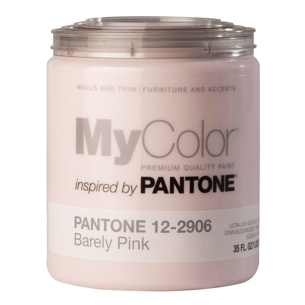 MyColor inspired by PANTONE 12-2906 Eggshell 35-oz. Barely Pink Self Priming Paint-DISCONTINUED