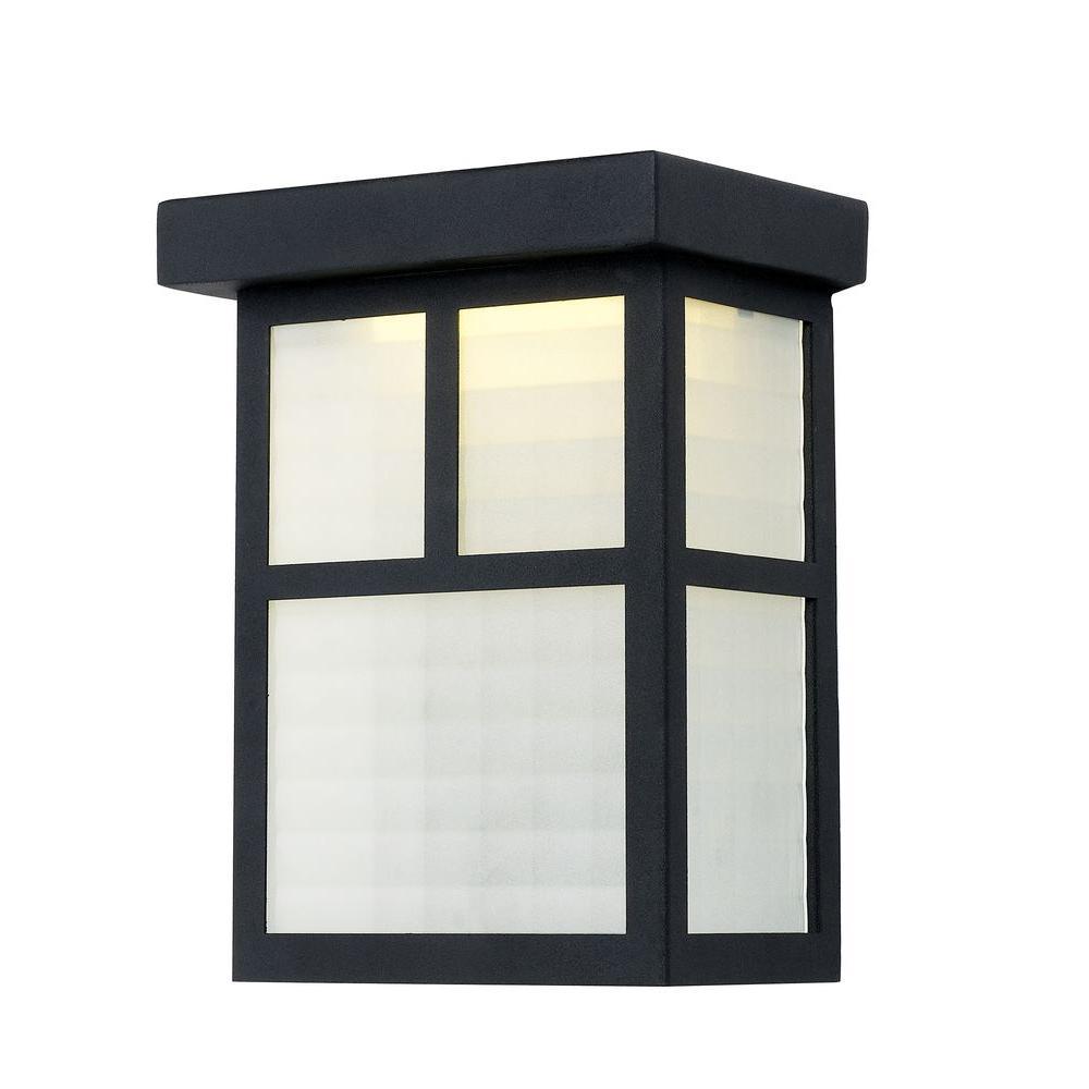 Outdoor Black Pocket LED Wall Lantern