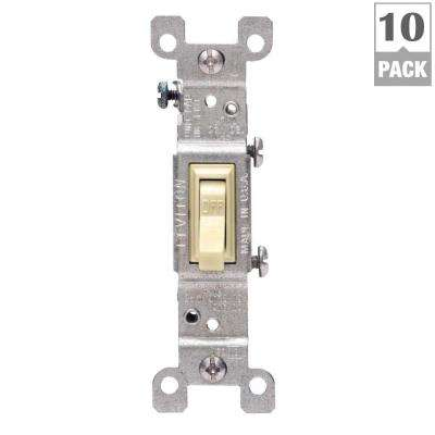 15 Amp Single Pole Switch, Ivory (10-Pack)