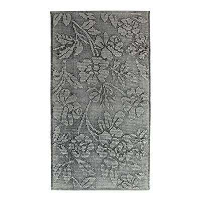 Branson Stonewashed Floral Limestone 2 ft. x 4 ft. Area Rug