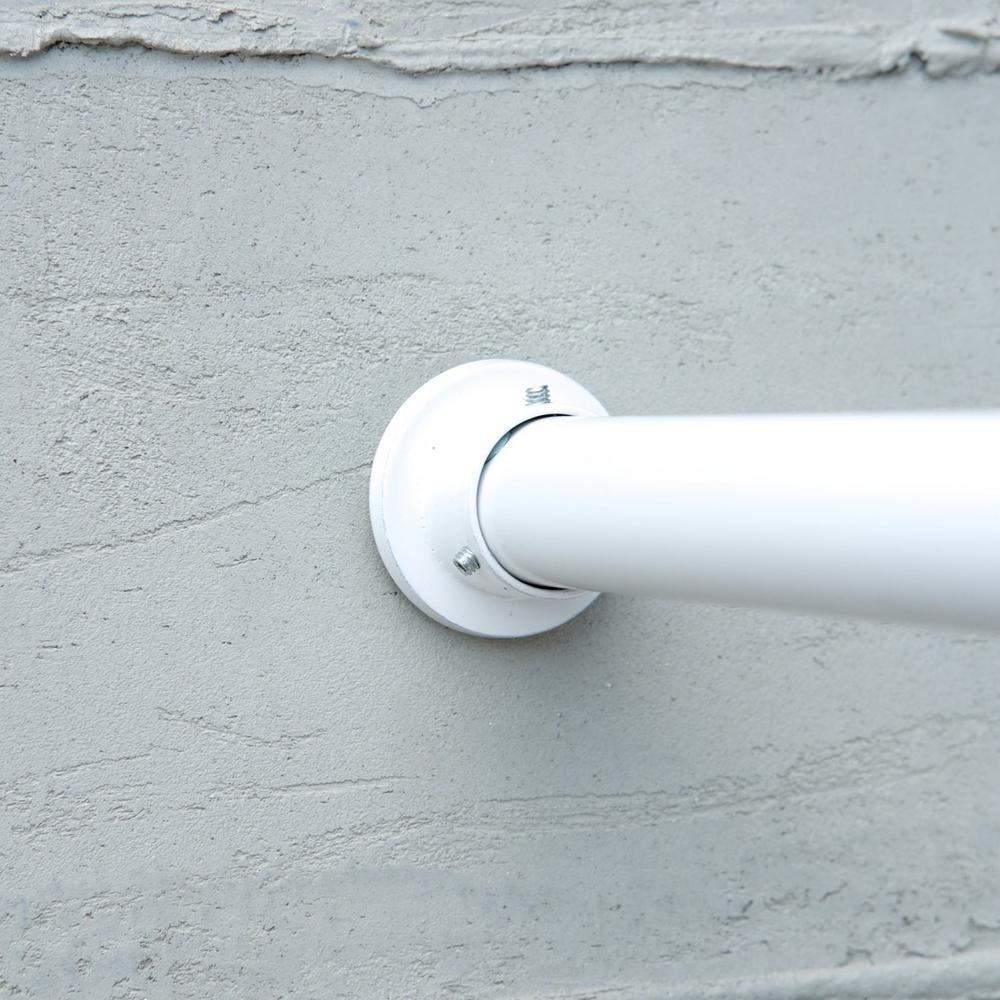 120 in. - 150 in. Premium Tension Curtain Rod in White