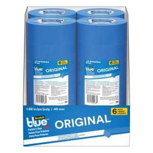 3M ScotchBlue 1.88 inch x 60 yds. Original Multi-Use Painter's Tape (6-Pack) (Case of 4) by 3M
