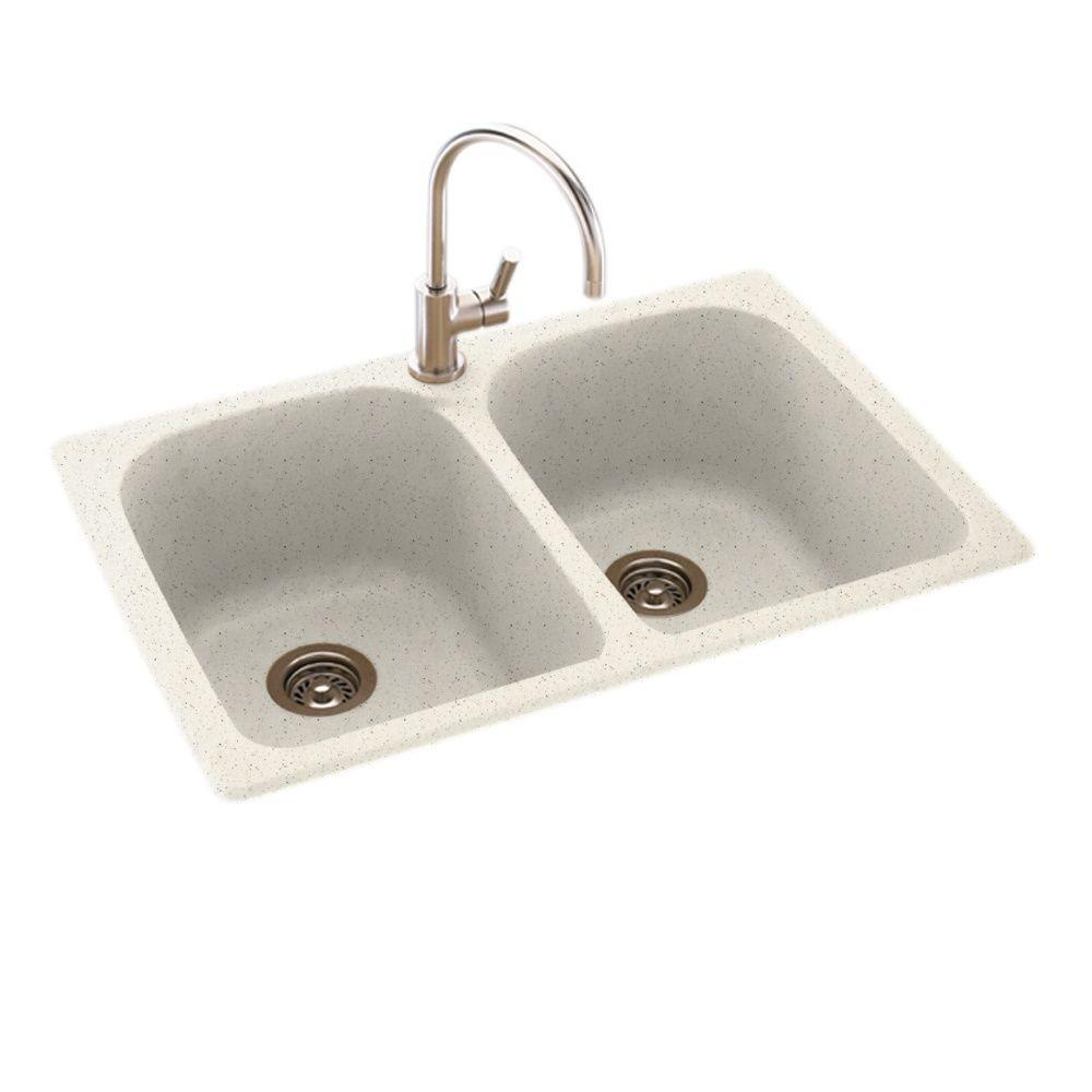 Inset Kitchen Sink Swan drop inundermount composite 33 in 1 hole 5050 double bowl store so sku 1001788158 workwithnaturefo