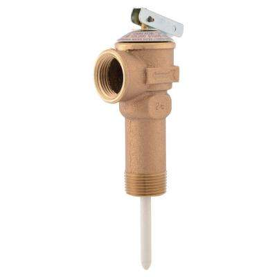 3/4 in. Bronze NCLX-5LX Temperature and Pressure Relief Valve with 2-1/2 in. Shank MNPT Inlet FNPT Outlet