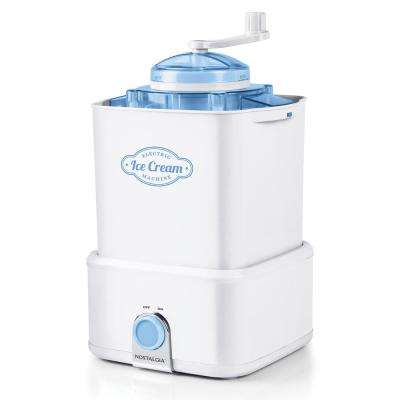 2 Qt. Electric Ice Cream Maker with Candy Crusher