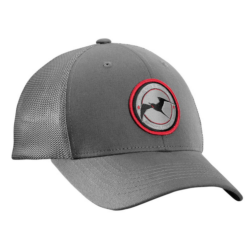 c4b677099fc15 Flying Fisherman Early Bird Small Medium Fitted Trucker Hat  Charcoal-H1716-S M - The Home Depot