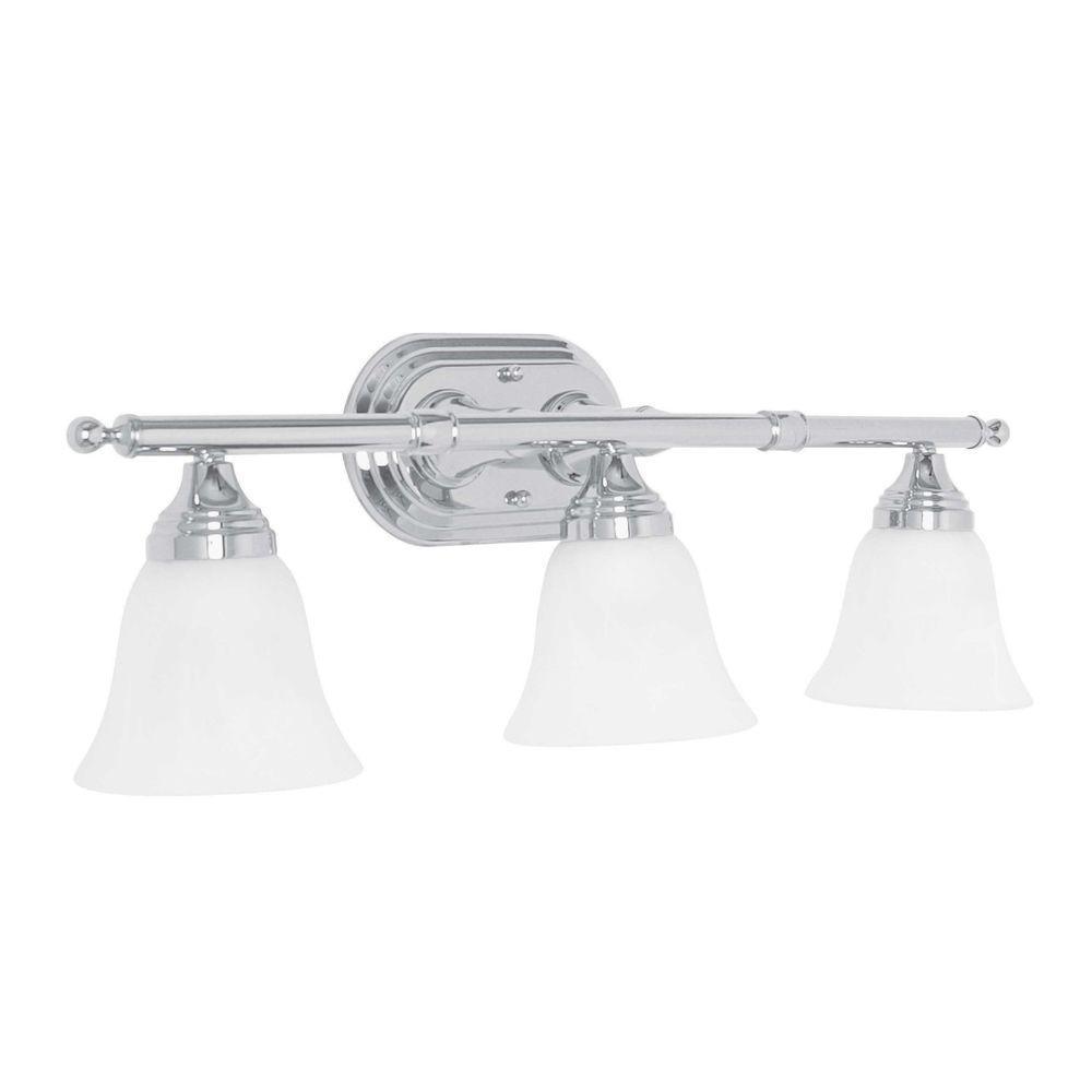Mason 3-Light Polished Chrome Vanity Light