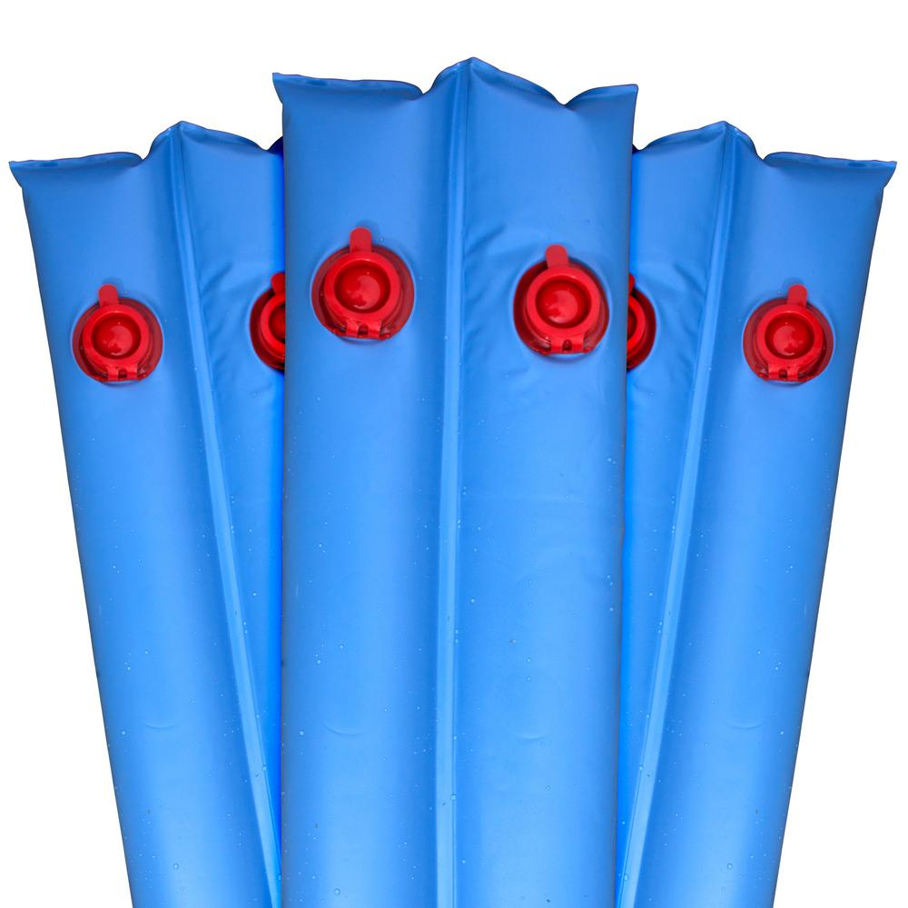 Robelle 10 ft. Blue Double-Chamber Premium Water Tubes for Winter Swimming Pool Covers 6-Pack
