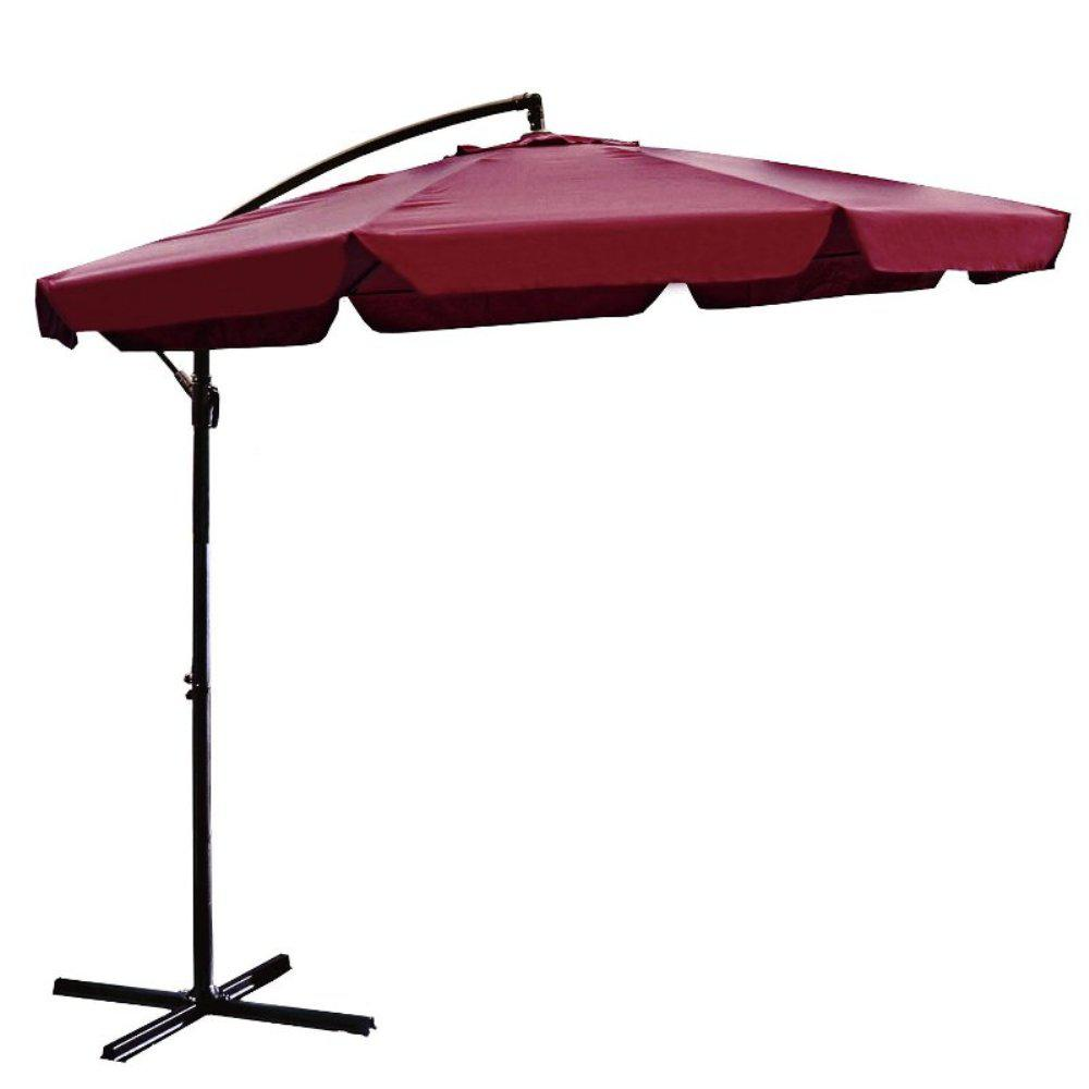 1654c61b49771 Steel Cantilever Patio Umbrella in Burgundy