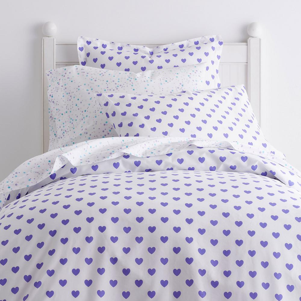 Sweetheart Purple Cotton Percale