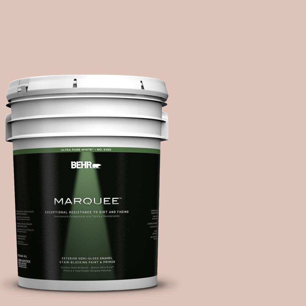 BEHR MARQUEE 5-gal. #PPU2-7 Coral Stone Semi-Gloss Enamel Exterior Paint