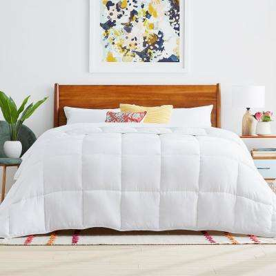 White Oversized Queen Down Alternative Microfiber Comforter