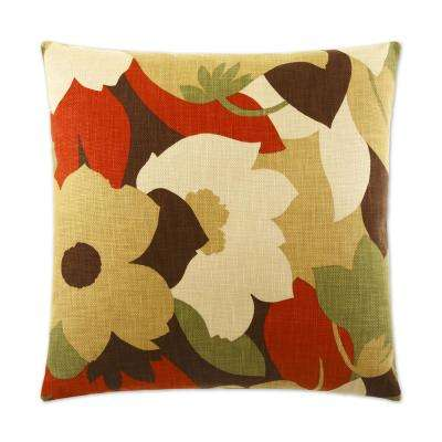 Esprit Harvest Feather Down 24 in. x 24 in. Standard Decorative Throw Pillow
